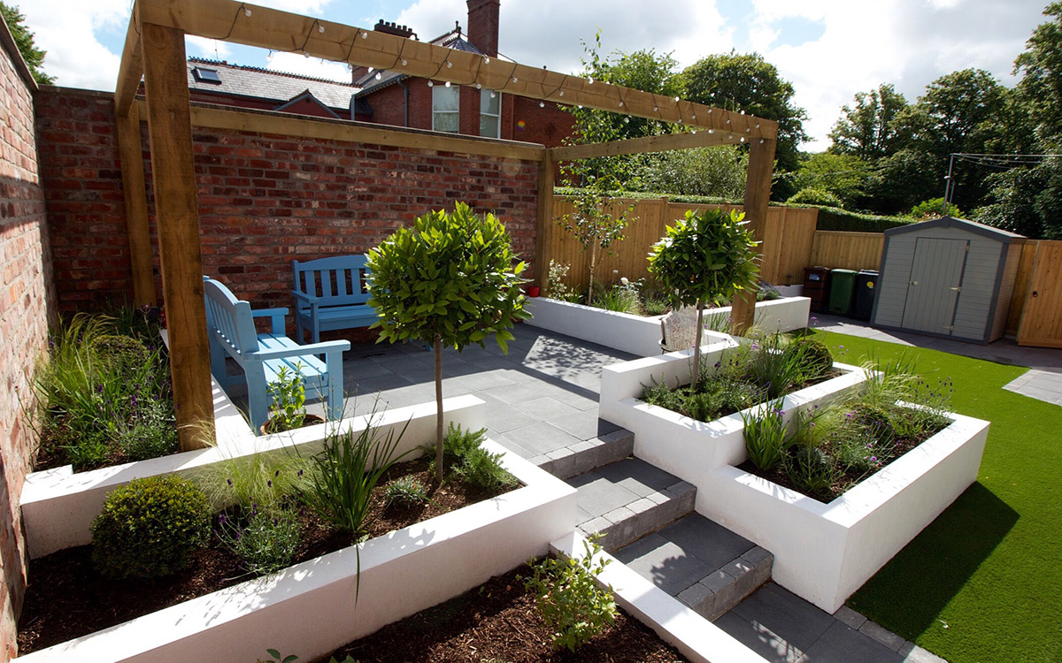 Contemporary Garden Lisburn - Johnny Knox Garden Design ...