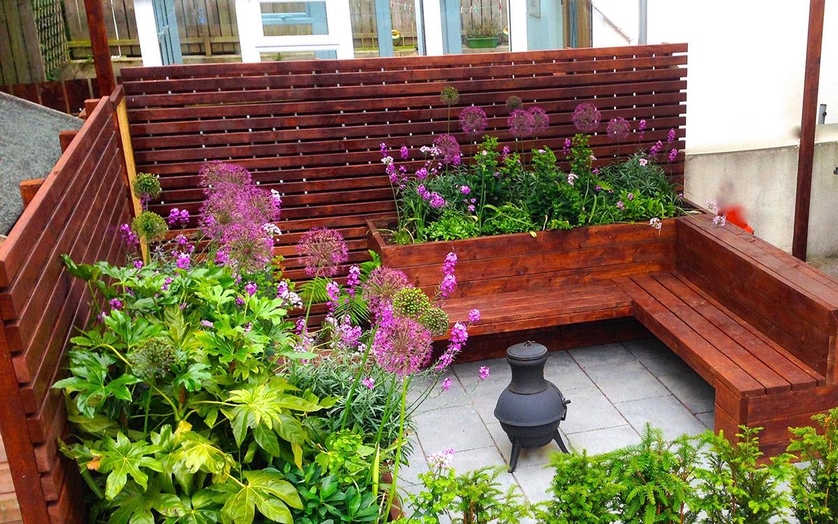 Contemporary garden saintfield johnny knox garden design for Garden design northern ireland